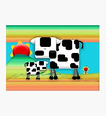 Moo Cow Sunrise Family Photographic Print
