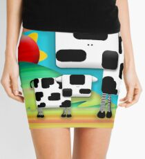 Moo Cow Sunrise Family Mini Skirt