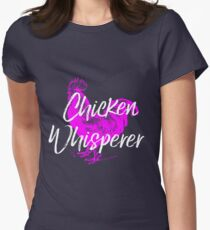 Chicken Design Womens Fitted T-Shirt