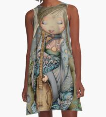 Moon Guitar A-Line Dress