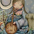 Moon Guitar by Karin Taylor by Karin Taylor