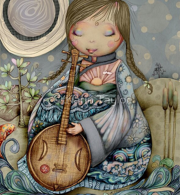 Moon Guitar by Karin Taylor