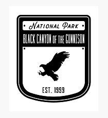 Black Canyon of the Gunnison National Park Colorado Badge Design Photographic Print