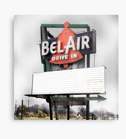 bel air drive-in, route 66, illinois Metal Print