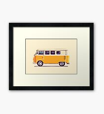 Yellow Vintage Volkswagen Bus Framed Print