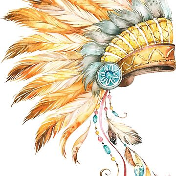 Indian Chief Headdress by Pixelofart