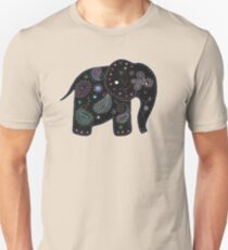 black embroidered elephant T-Shirt