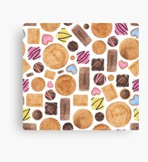 Selection of Sweets, Candy, Cakes and Biscuits Canvas Print