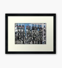 Abstract reflection in high-rise windows Photographed in Vienna, Austria.  Framed Print