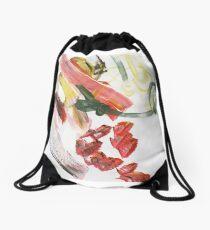 Three S's: stripes, swirls and splotches Drawstring Bag