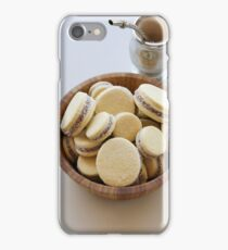 A bowl of freshly baked Alfajor cookies and Mate Tea iPhone Case/Skin