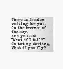 What if you fly? Vintage typewritten Art Board
