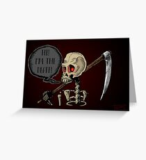 Dumb Death Greeting Card