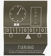 Science Posters - Alan Turing - Mathematician, Computer Scientist Poster