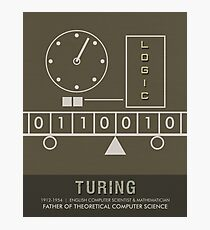 Science Posters - Alan Turing - Mathematician, Computer Scientist Photographic Print