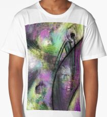 Abstract with purple and green Long T-Shirt