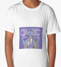 Celtic moon Goddess Long T-Shirt
