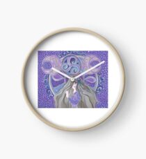 Celtic moon Goddess Clock