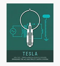 Science Posters - Nikola Tesla - Physicist, Engineer Photographic Print