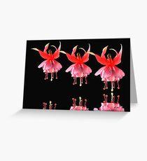1505 Dancing Fuchsias Greeting Card
