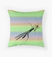 Bug Screen Projection Pixels Throw Pillow