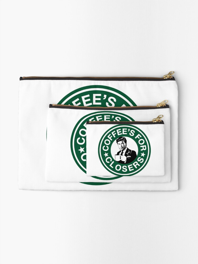 Alternate view of Coffee's for Closers Parody Zipper Pouch