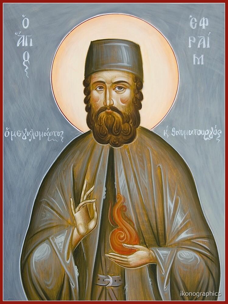 St Ephraim of Nea Makri by ikonographics