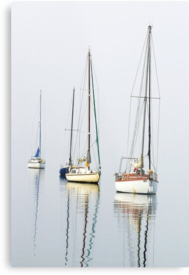 1499 Boats and Reflection by Hans Kawitzki