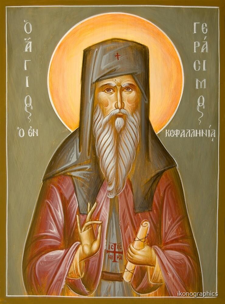 St Gerasimos of Kefalonia by ikonographics