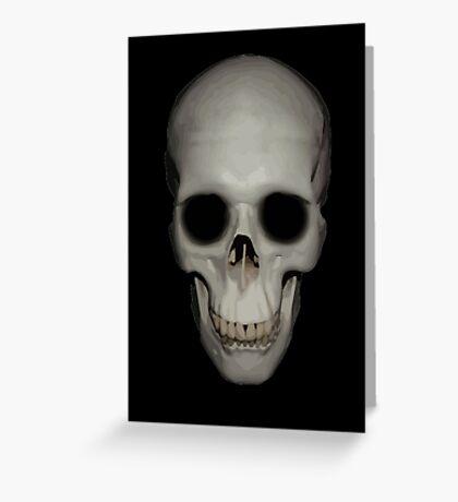 Human Skull Vector Isolated Greeting Card