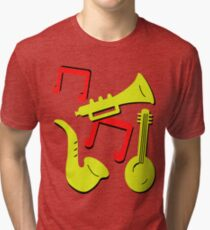 Doctor Who Ace Music Instruments Remembrance Daleks Tri-blend T-Shirt