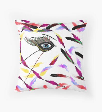 Wild Eye Throw Pillow