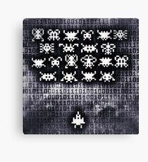 Digital space invaders Canvas Print