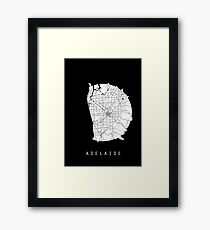 Adelaide Minimalistic Map - Dark Framed Print