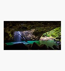 Natural arch waterfall Photographic Print