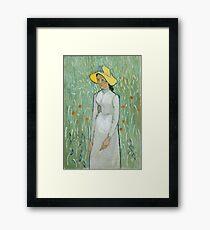 Vincent van Gogh Girl in White 1890 Painting Framed Print