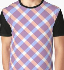 Gingham pattern Graphic T-Shirt