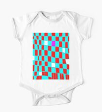 Funky gingham blue n red One Piece - Short Sleeve