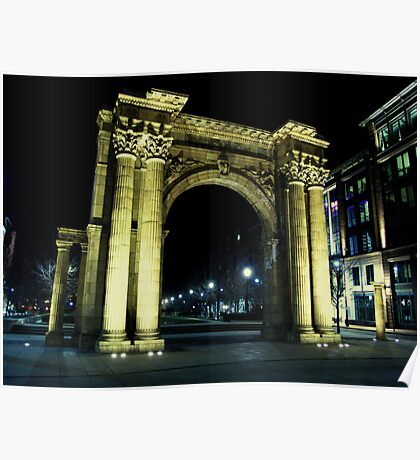 Union Station Arch, Columbus, Ohio Poster