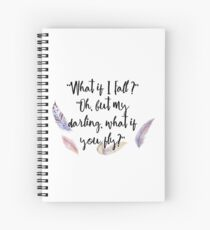 What if you fly? Feather whimsy. Spiral Notebook