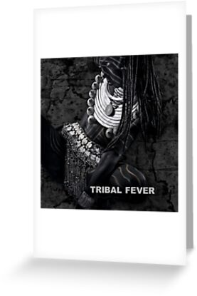 Tribal Fever - Greeting Card by Glen Allison