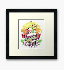 Polly Wants Some Good Vibes! Framed Print