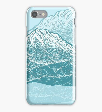 Distant Snow- 遠雪 : linocut iPhone Case/Skin