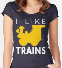 Rail King, I like trains Women's Fitted Scoop T-Shirt