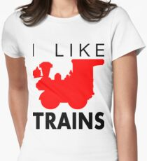 Rail King, I like trains Women's Fitted T-Shirt