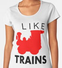 Rail King, I like trains Women's Premium T-Shirt