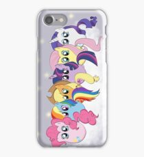 Pony Cloud Line Up iPhone Case/Skin