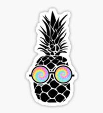 Pineapple W Glasses Sticker