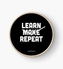 Learn, Make, Repeat. Clock
