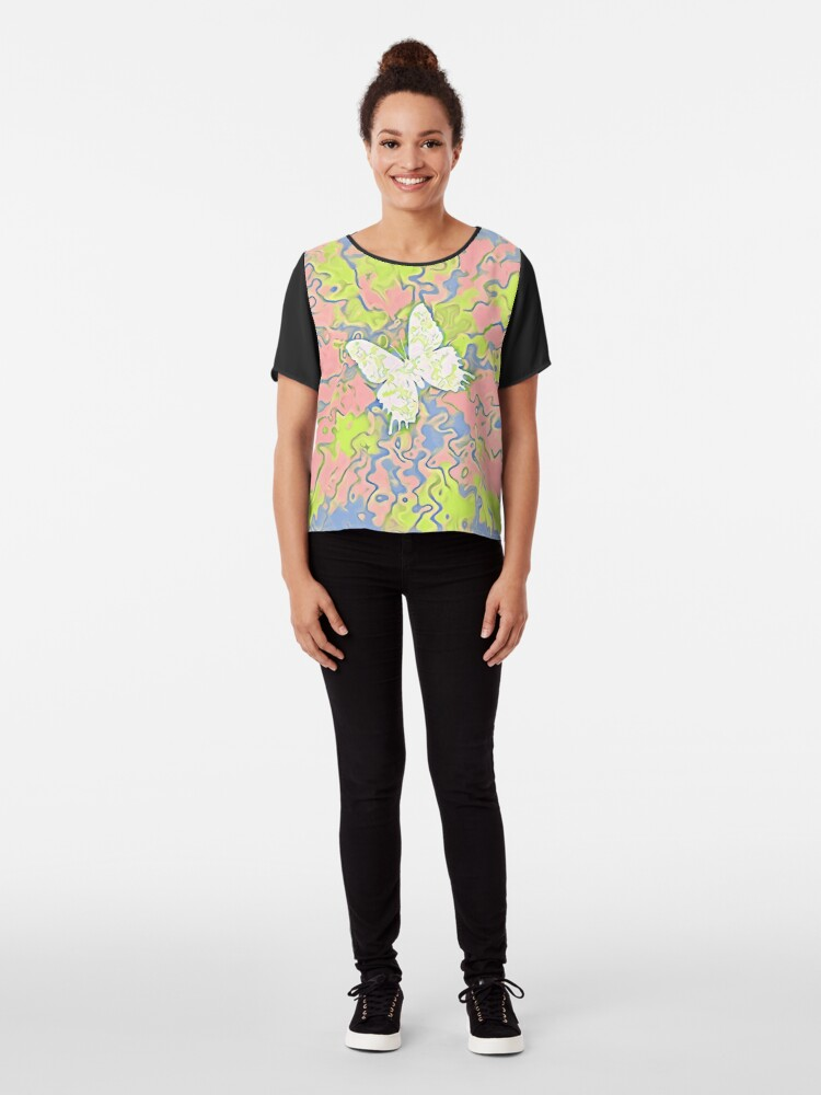 Alternate view of Butterfly Chiffon Top